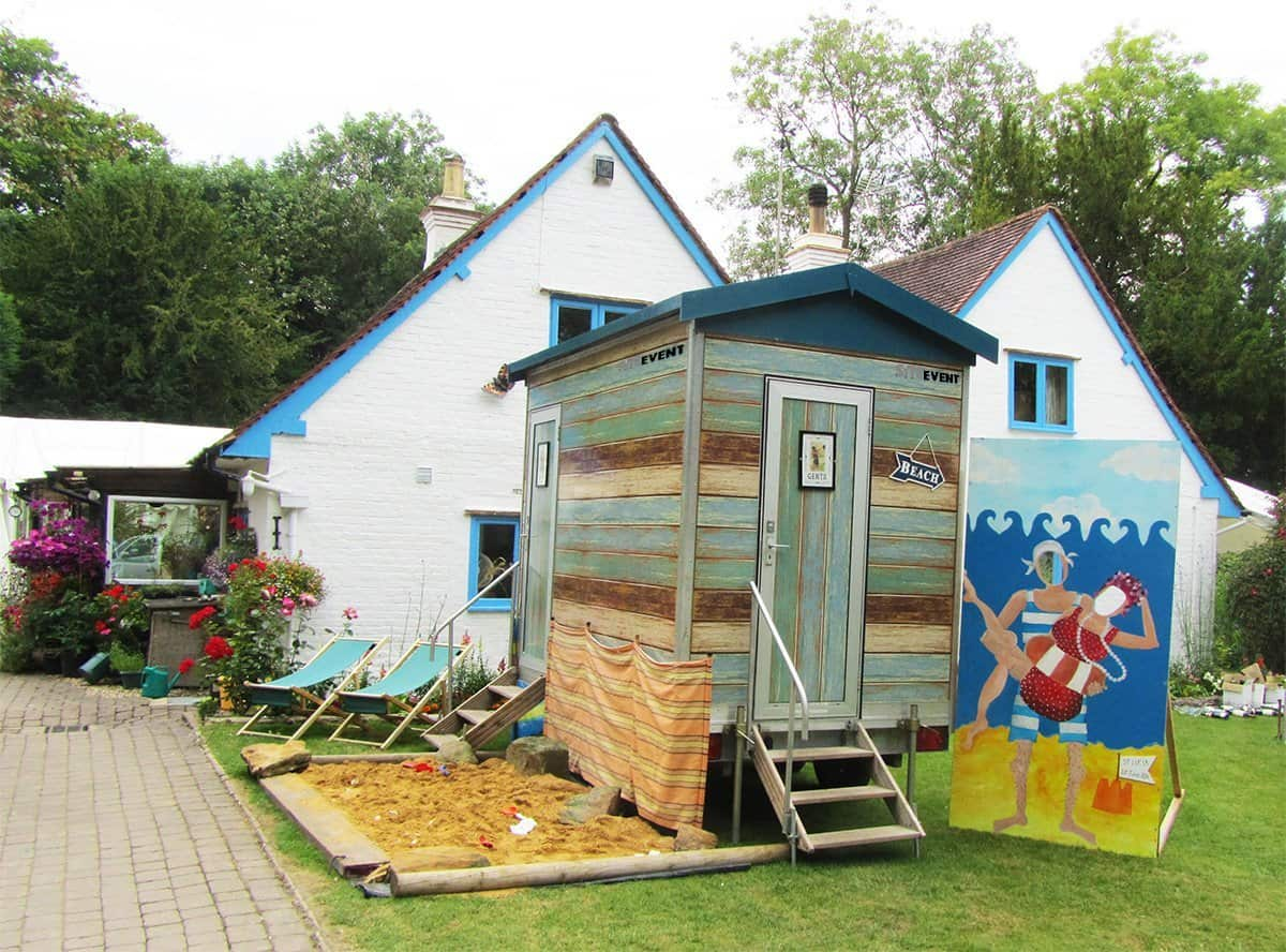 Beach Hut Toilet Trailer Site Event