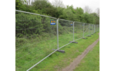 Site Equip Heras Fencing Outside