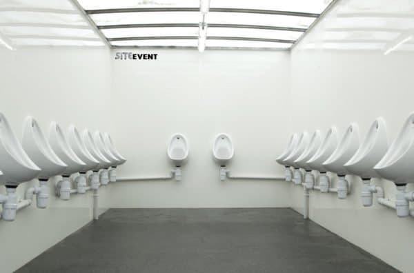 20 Man Urinal Trailer Interior