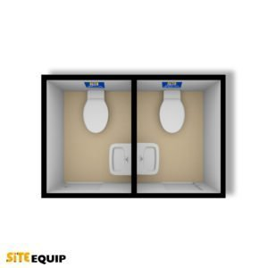 1+1 Static Mains Toilet Block from Site Equip
