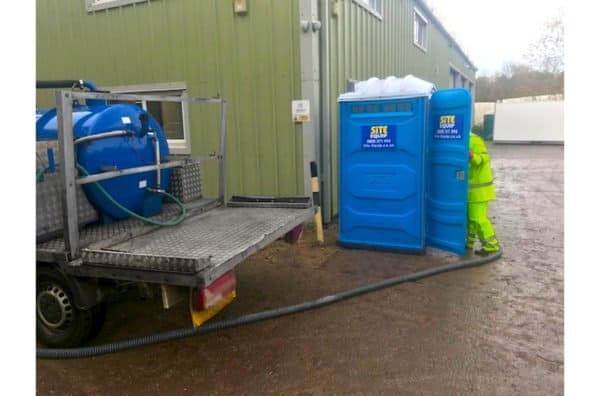 chemical toilet servicing
