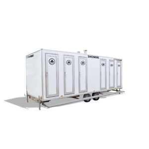 Mobile Shower Unit Hire 6 Bay Shower Trailer Long Term Hire