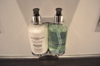Antibacterial hand wash and moisturiser and fitting