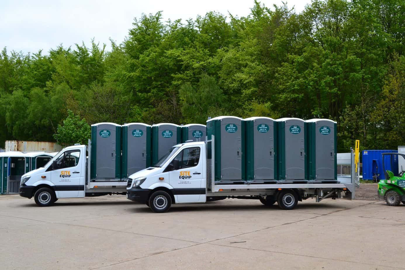 Delivery of toilets